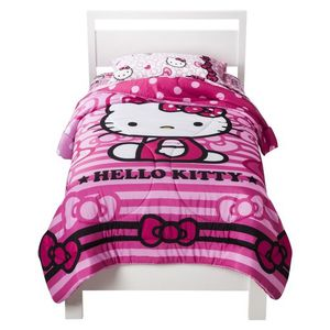 Hello Kitty Reversible Comforter and Pillowcase