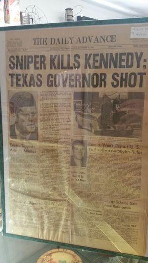 Original newspaper November 22 1963