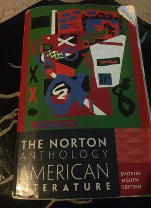 Norton anthology American literature Tex book