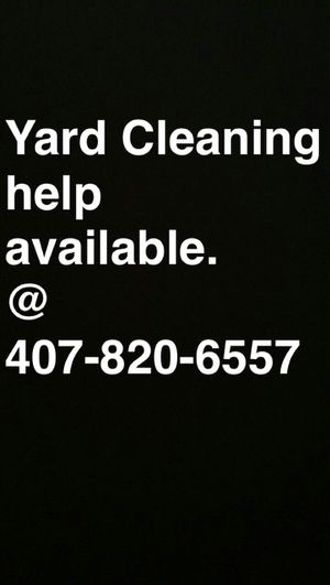 Yard help available