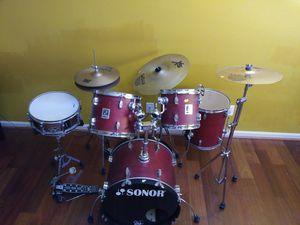 Sonor Drum Set 8 Pieces $425 in Excellent Condition