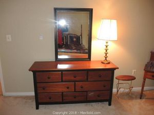 Riverside Furniture Matching Dresser (chest of drawers), desk with hutch, & chair