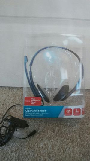 Clear chat stereo PC headset. Logitech
