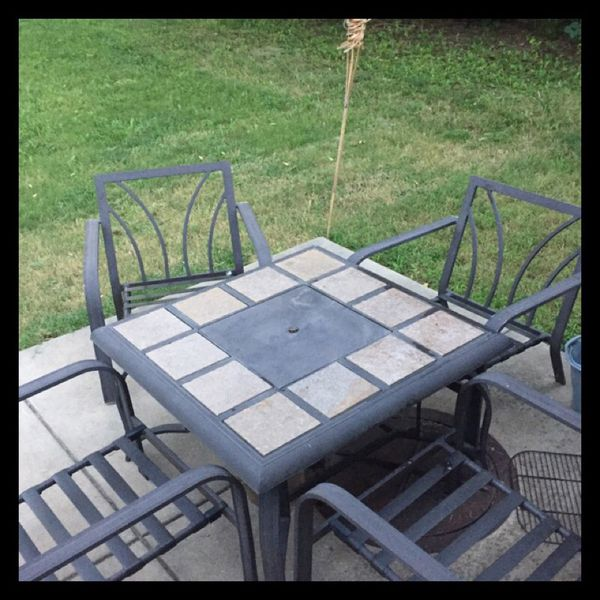Patio table and 4 chairs household in wichita ks offerup Home bar furniture wichita ks