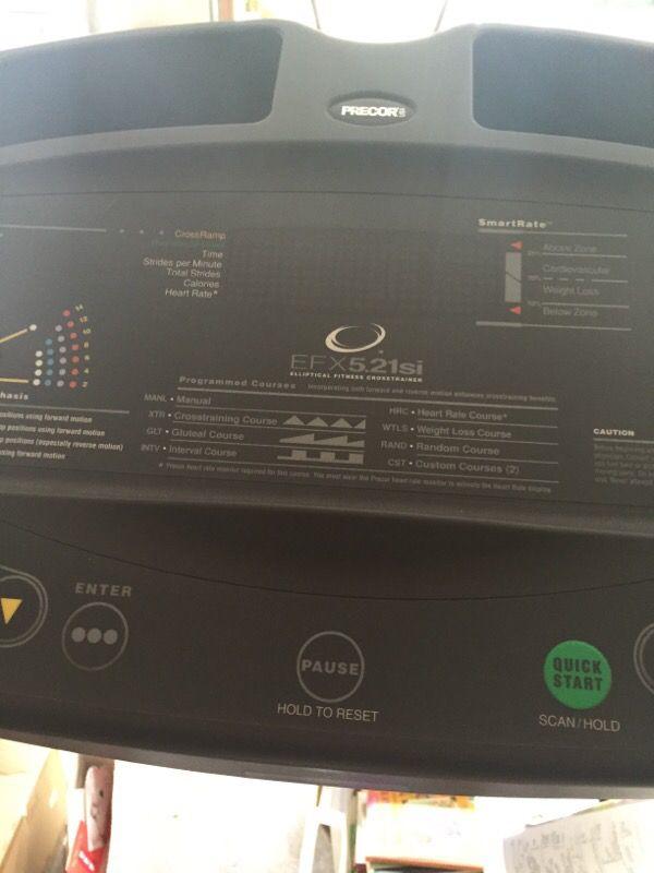 Nice Precor Elliptical Efx 5 21si Exercise Machine Sports
