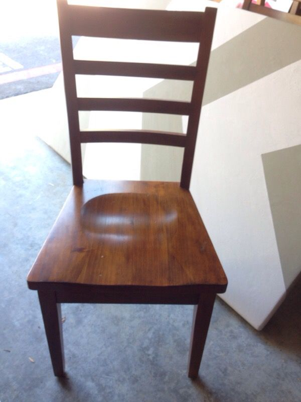 Chevron Painted Wooden Dining Table And Six Chairs Furniture In Renton W