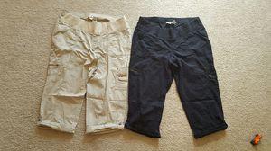 2 size Large Maternity Capri Cargo pants.