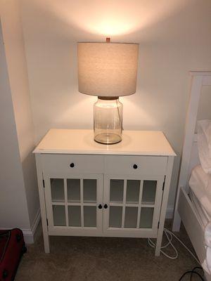 2 Door Cabinet with Drawers + lamp