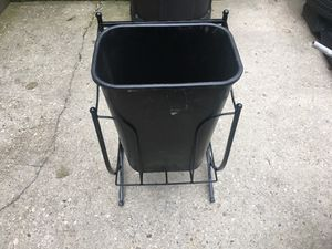 Trash bin W/ holder