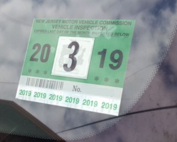 Inspection sticker nj kamos sticker for Motor vehicle inspection nj