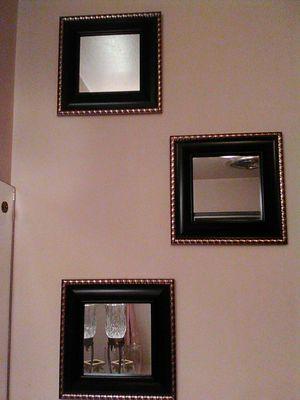 Set of Three Hanging Wall Mirrors