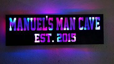 Man Cave Led Sign : Custom made man cave led sign electronics in pinehurst tx offerup