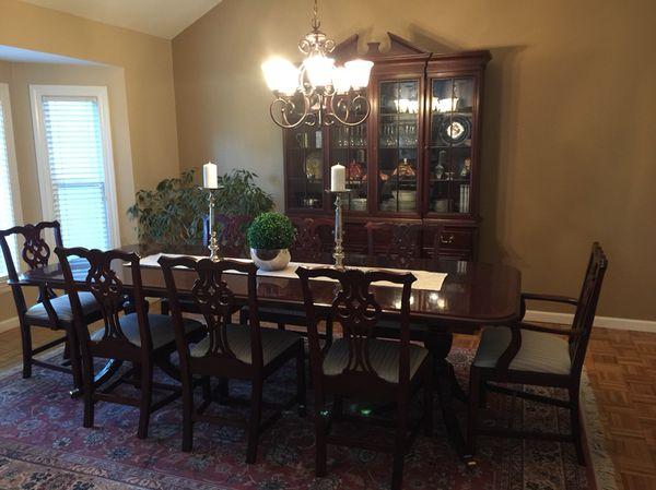 Mahogany Dining Room Table And Hutch