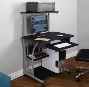 Mobile Computer Desk with Shelf