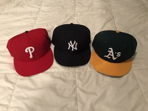 3 Fitted Baseball Hats