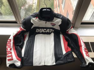 Ducati Corse Motorcycle Perforated Leather Jacket Size 50 IT (US Size 40 or M) for $285 or Best Offer