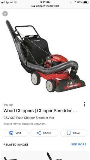 I'm looking to buy Troybilt chipper vacuum I got 200 in cash