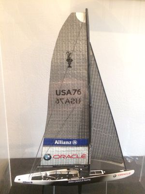 BMW-Oracle America's Cup Sailboat Model