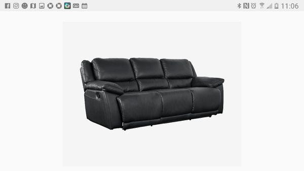 dania black leather reclining sofa furniture in seattle wa