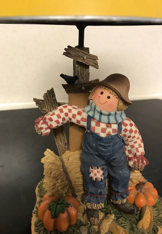 Home Interior Scarecrow TeaLight Candle Lamp