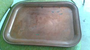 Vintage Copper Serving Tray 14 x 10