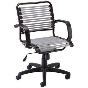 Mint Condition Silver Flat Bungee Office Chair With Arms