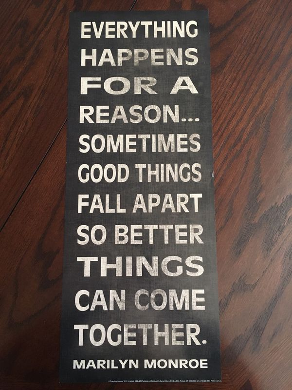 Marilyn Monroe Everything Happens For A Reason Quote Household In