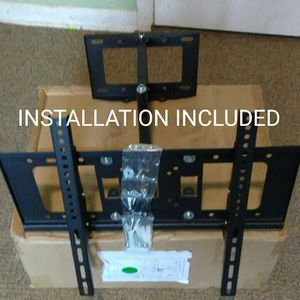 "full motion tv wall mount universal 30 to 55"" any brand of tvs the price includes INSTALLATION"