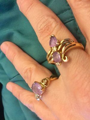 Amethyst gemstone Rings 💍 💜💍💜💍💜💍 Chose the style you love , each for $ 60 / Visit for more classy jewelry