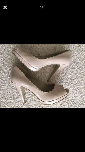 Nine West size 9 beige heels, excellent condition