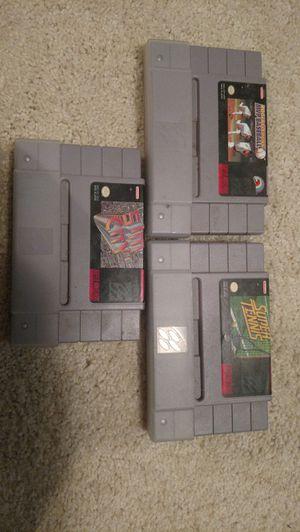 3 SNES games
