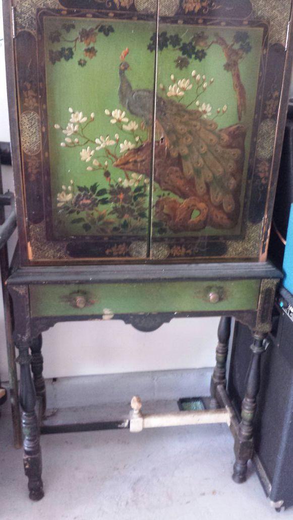 1924 Antique Oriental Cabinet by Albert Stickley-Quaint Mission Design