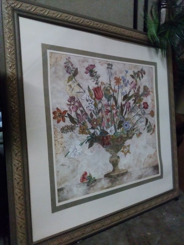 Large Framed Flowers Picture (Home & Garden) in Fort Lauderdale, FL ...