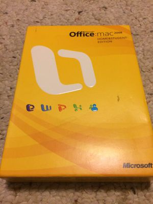 MAC Microsoft Office 2008 with multiple Product Codes Software
