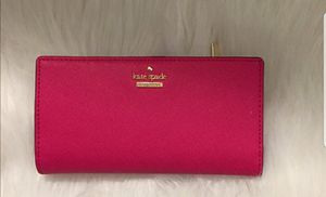 Kate spade wallet hot pink like new