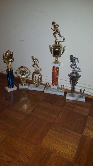 5 Football Trophies