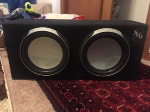 Subwoofers with Sony Xplode Amp 1000 watts