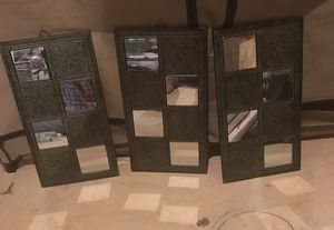 Three piece antique wall mirrors