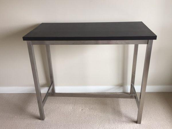Utby bar table brown black stainless steel like new furniture utby bar table brown black stainless steel like new watchthetrailerfo