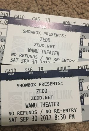 (2) Zedd - Echo Tour Tickets **SOLD OUT*** event