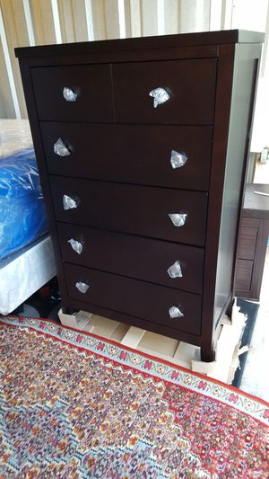 Brand New Espresso Solid Wood Chest of Drawers