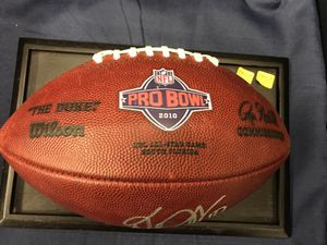 "DeSean Jackson Autographed Game Used Players Football and Players's Bag from the 2010 Pro Bowl! ""Game Used, Autographed, and The Official Players Gam"
