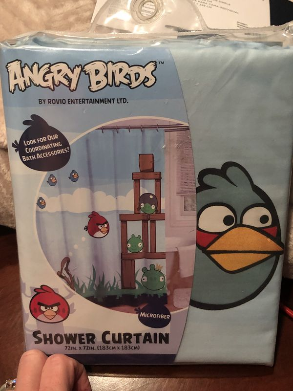 New Angry Birds Fabric Shower Curtain Household In San Jacinto CA
