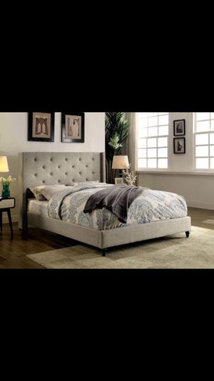 new bed combo fabric tufted platform bed frame with pillow top mattress - Bed Frame And Mattress Combo