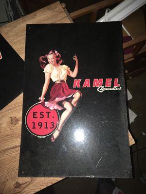 Original Kamel Cig metal signs Like New
