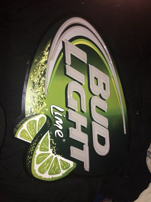 Light up bud light lime bar sign