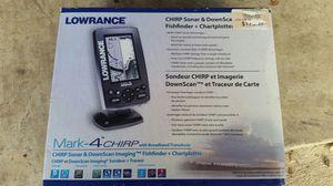 Lowrance chirp sonar down scope fish finder Mark 4 chirp