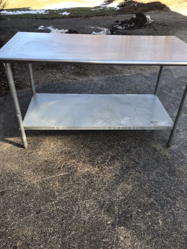 Foot Stainless Steel Table Wide Business Equipment In - 5 ft stainless steel table