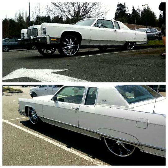 custom bagged on 24s 1975 lincoln continental rare 2 doors cars trucks. Black Bedroom Furniture Sets. Home Design Ideas