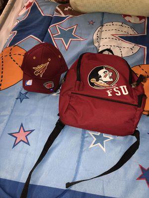 FSU hat and backbag